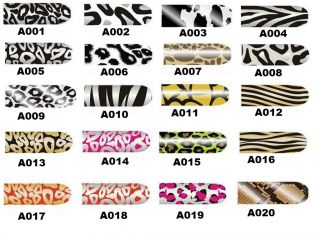 Self adhesive Nail Art Decal Foil Sticker Water Slide Tattoo Transfer