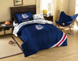 Gonzaga Bulldogs/Zags Dorm Twin Bed in a Bag 5 Piece Set   Sheets