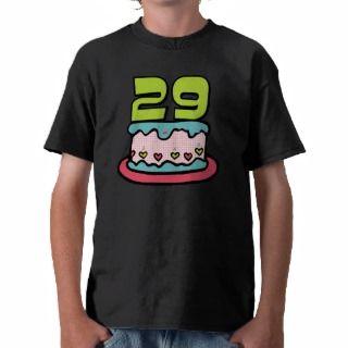 Torta de cumpleaños de 29 años t shirts de