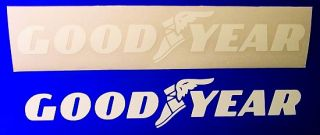 Goodyear White Stickers Decals 24 61cm Long Racing
