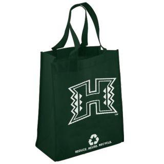 click an image to enlarge hawaii warriors green reusable tote bag tote