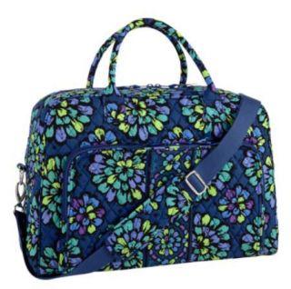 Vera Bradley Weekender Indigo Pop Tote Bag Travel Luggage Duffle Carry