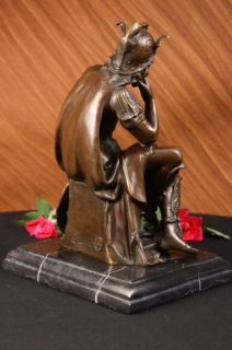 Signed Gregoire Roman Emperor Warrior Bronze Sculpture Figurine Statue