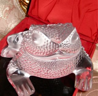OMG Auth Lalique Crystal Glass Gregoire Frog Toad Figurine Statuette