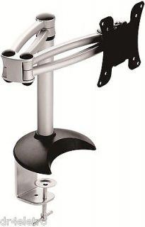 Full Motion Single Swivel Tilting Arm 14 18 LCD Monitor Desk Mount