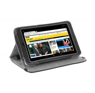 Google Nexus 7 Tablet Black Nappa Leather Version Stand Cover Case