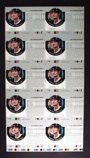 Wayne Gretzky RARE Uncut ProSet Proof Sheet L A Kings Hall of Famer
