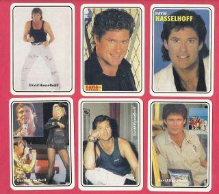David Hasselhoff 12 Collectible Photo Cards Set Baywatch TV Knight