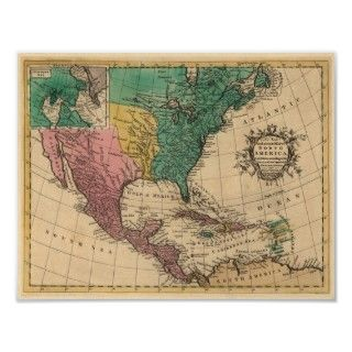 new and accurate map of North America, laid down according to the
