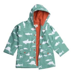 Hatley Hooded Terry Lined Rain Coat Game Fish Variety of Sizes MSRP