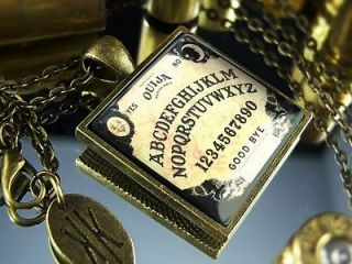 Limited Edition Antique Bronze Ouija Board Halloween Occult Necklace