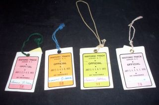 Vintage 70s Historic Track Goshen NY Official Hang Tags