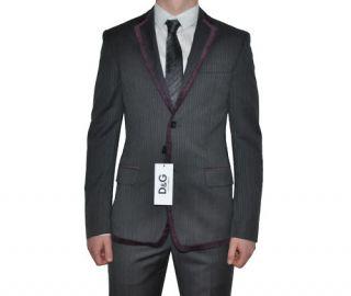 Gabbana D G Anzug Suit Repondre Grau Grey Gris Slim Fit 48 M