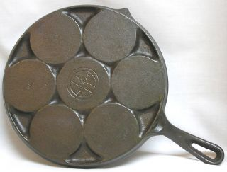 Vintage Griswold Cast Iron No 34 Pancake Griddle or Plett Pan Skillet
