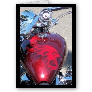 Custom painted skull on motorcycle gas tank. Photo taken in Old