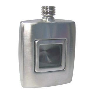 oz Stainless Steel Flask w Window Engraved Groomsmen Gift