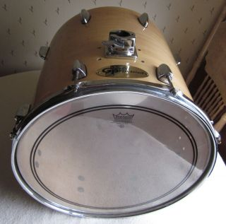 GROOVE PERCUSSION FLOOR TOM DRUM W REMO WEATHERKING POWERSTROKE 3 FOR