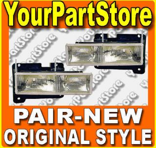 Chevy GMC Truck 90 91 92 93 94 95 96 97 98 Headlamps
