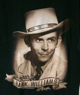 Hank Williams SR Portrait T Shirt New