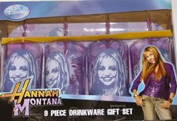 New Hannah Montana Tumbler Set Glasses Free SHIP