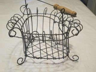 Country Wire Heart Egg Basket