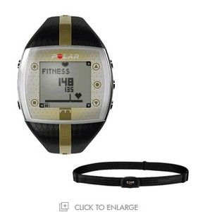 Polar FT7 Fitness Heart Rate Monitor Womens Black Gold New