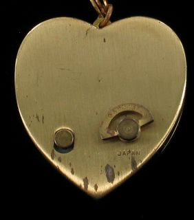 Vintage Heart Shaped Music Box Pendant Mother of Pearl Plays Laras