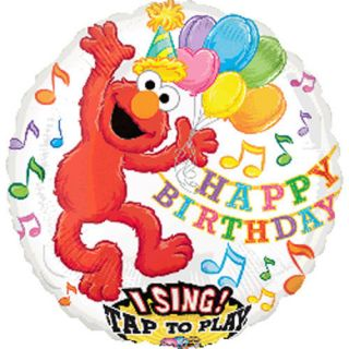 28 Elmo Singing Balloon Happy Birthday Song Kids Sesame Street Party