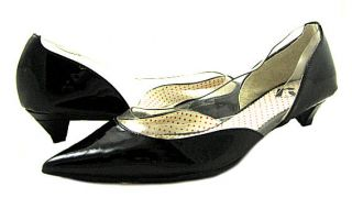 New Report Womens Gracey Black Patent Low Heel Shoes 6