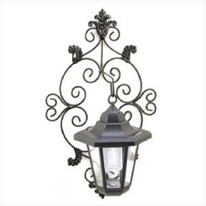 French Chic Outdoor Solar Garden Wall Lantern Sconce