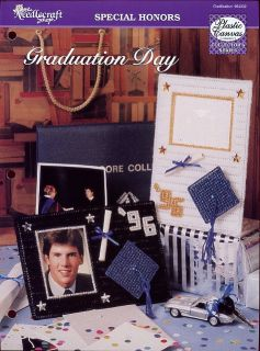 Graduation Day Photo Frames TNS Plastic Canvas Pattern