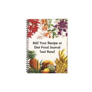 Fresh Fruit and Flowers Custom Notebook Journal