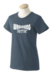 Ladies Wrestling Mom Pride T Shirt Cute Fun Sports Fan Mothers Day