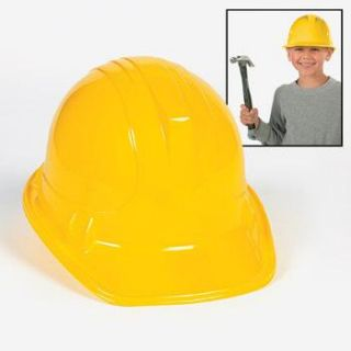10 yellow construction work hard hats kids boys birthday party