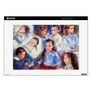Images of childrens character heads by Renoir Laptop Skins
