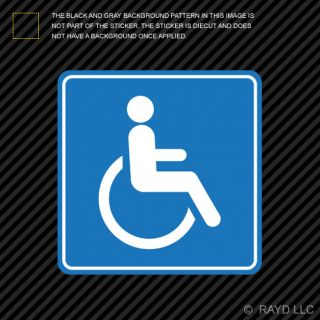 Handicap Sticker Die Cut Decal Self Adhesive Vinyl Wheelchair