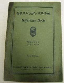 Graham Paige 1928 Models 619 629 Original Owner Manual