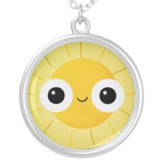 Smiling Sun with Big Eyes Necklaces