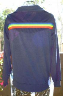 Hang Ten Vintage 80s Track Jacket Rainbow Stripe Surf Skate Beach