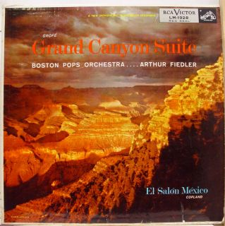 Fiedler Grofe Grand Canyon LP VG LM 1928 1S 2S Vinyl 1955 Record