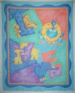 baby love cathy heck quilt panel nursery baby fabric