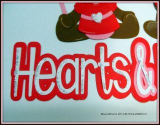 ELITE4U Hearts Kisses Handmade Tear Bear Paper Piecing Valentine by