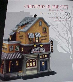 Christmas in The City Maxwells Blues Hall 4020175 Mint in Box