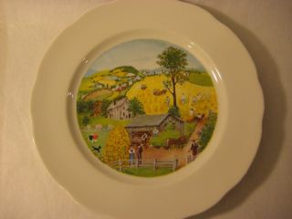 Grandma Moses in Harvest Time Plate International L Edition Syracuse
