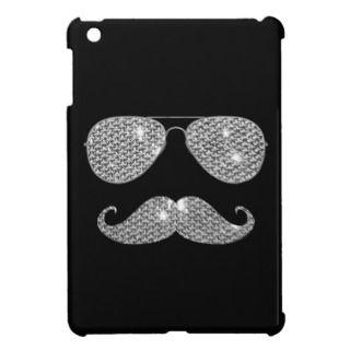 Funny Diamond Mustache With Glasses iPad Mini Case