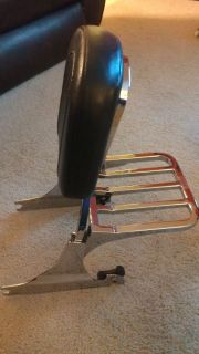 Harley Davidson Detachable Backrest with Luggage rack Softail