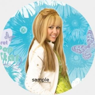 Hannah Montana Edible Cake Image Topper Round