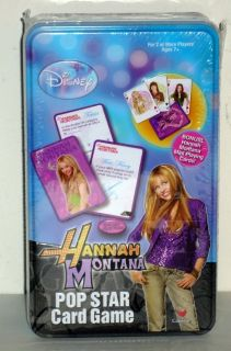 Hannah Montana Pop Star Card Game Trivia Disney SEALED