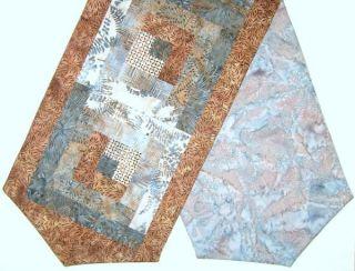 Batik Patchwork Pre Cut Table Runner Kit 13x45 inch Granite 3