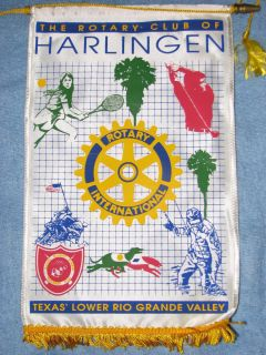 Rotary Club International Banner Flag for Harlingen Texas